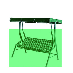 Cnsjmade Canopy replacement, Outdoor swing chair & hammock canopy,roof replacement-Dark green 190x120cm/74.8x47