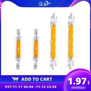 Image 1 - LED R7S Glass Tube COB Bulb 78MM 8W 118MM 13W R7S Corn Lamp J78 J118 Replace Halogen Light 50W 90W AC 220V 230V Lampadas