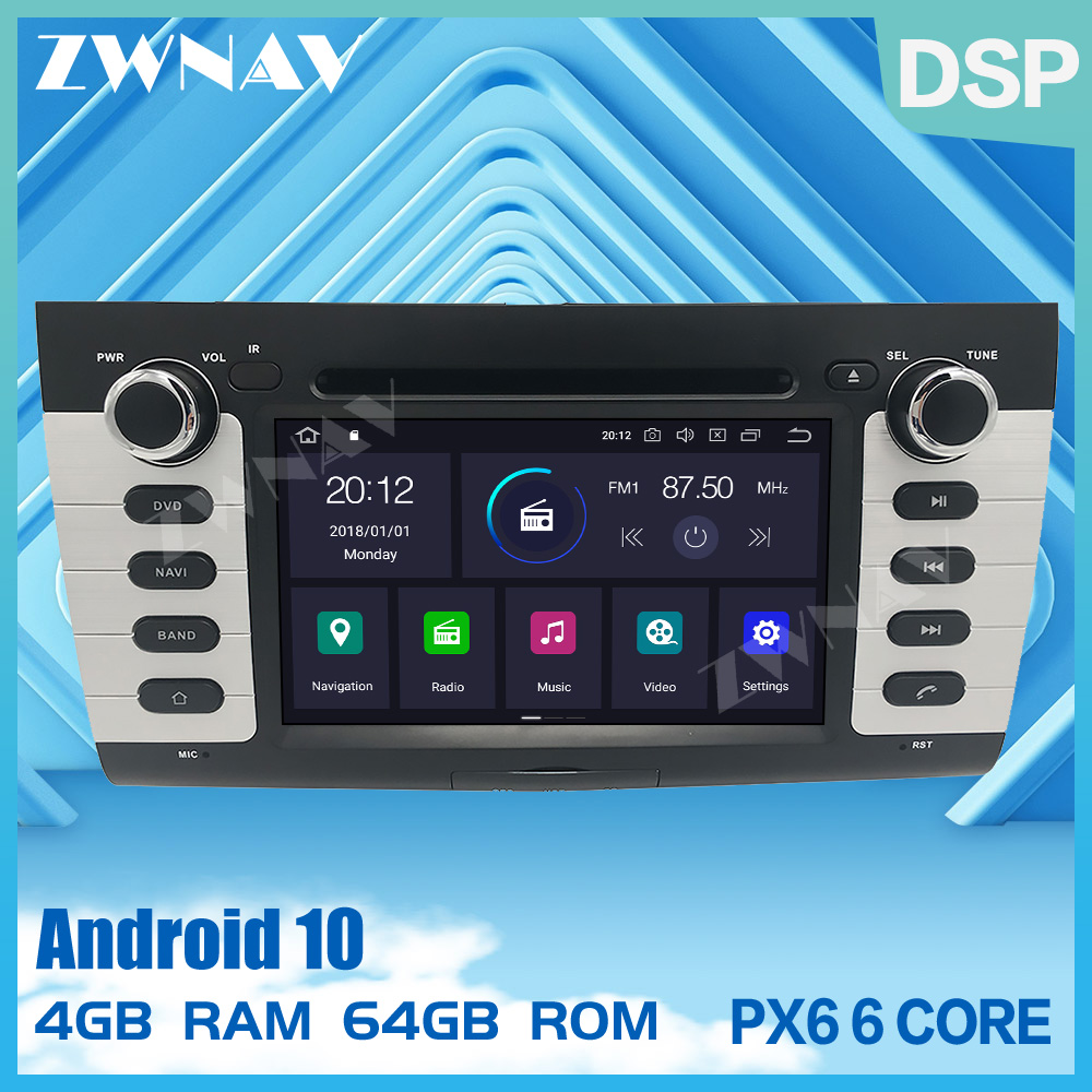 PX6 DSP IPS Screen 4+64G <font><b>Android</b></font> 10.0 Car GPS Navi Radio Audio stereo For <font><b>SUZUKI</b></font> <font><b>SWIFT</b></font> 2004-2010 DVD multimedia Player head unit image