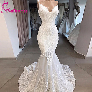 Vestidos De Novia White Mermaid Wedding Dress Backless Sexy Sweetheart Lace Wedding Gowns Handmade Appliques свадебное платье