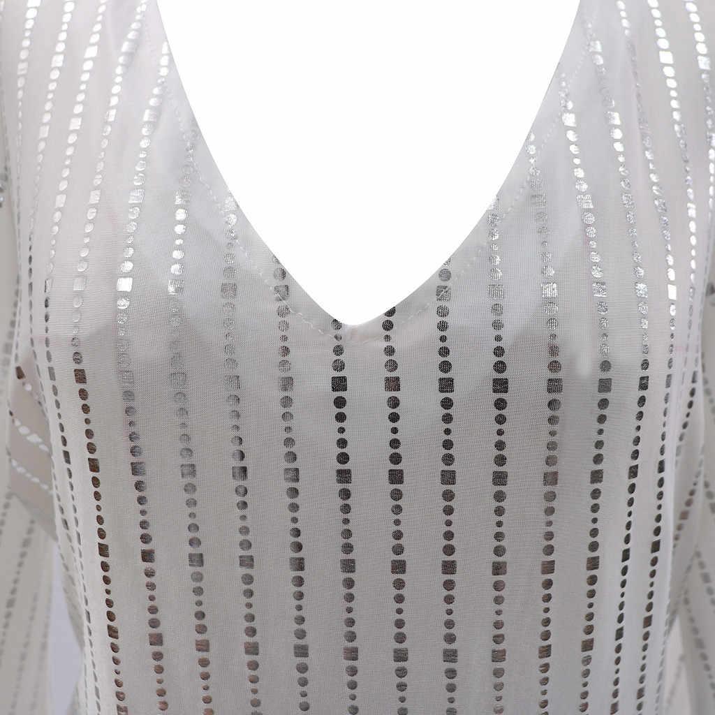 Miarhb vestido feminino vestido de verão branco 2020 vestidos longos elegantes sexy vestidos de festa de noite manga longa vestido de renda de lantejoulas