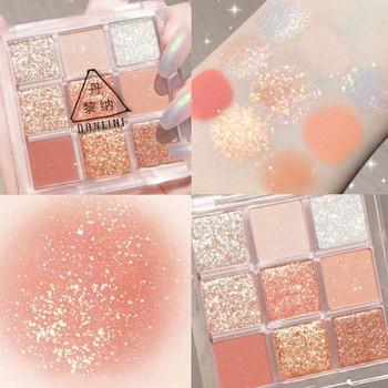 Professional Eyeshadow Palette 9 Color Matte Long-lasting Waterproof Palette Glitter Soft Make-Up Set Korea Cosmetics TSLM1 1