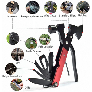 16 In 1 Multi Function Tool Folding Army Knife Tactical Survival Camping Multi-Tool Outdoor Hammer Screwdriver Hand Equipment