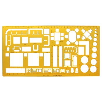 Interior Decorator Design Furniture Layout Architectural Template Ruler Drawing - discount item  17% OFF Drafting Supplies