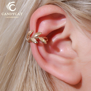 Vintage Ear Cuff Clip on Earrings Flower Earcuff for Women Clip Earrings Without Piercing Cuffs Fake Earrings Wedding Jewelry(China)