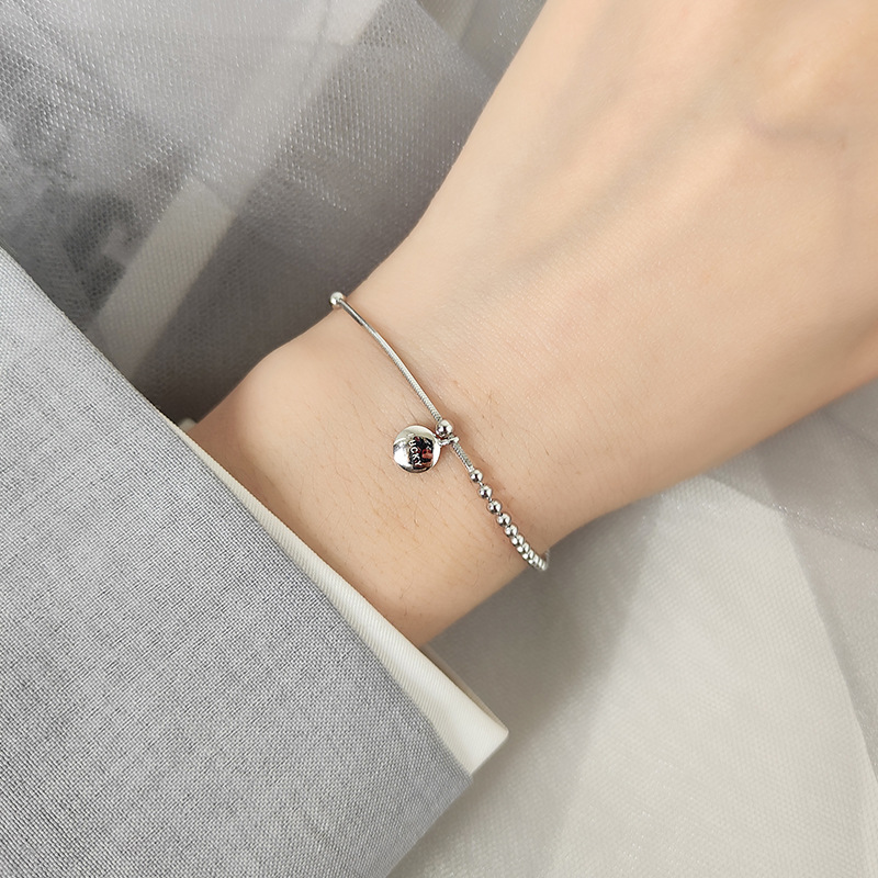 Lucky Real 925 Silver Gift Bracelet(China)