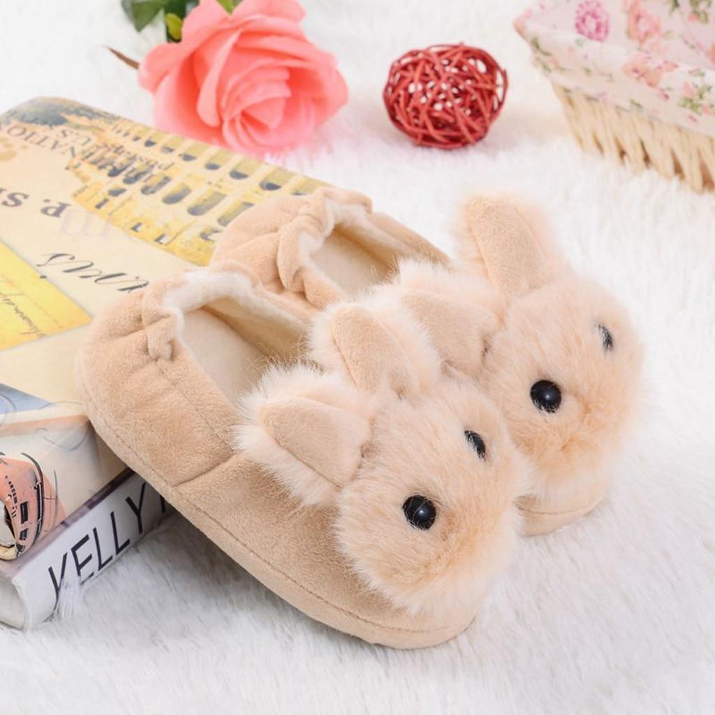 Hd5dcde5aed0e423f853523d7fd02b115m Sapatos para crianças de algodão, sapatos para crianças meninos e meninas de outono, chinelos fofos com orelhas de coelho, espessamento de bola, sapatos internos