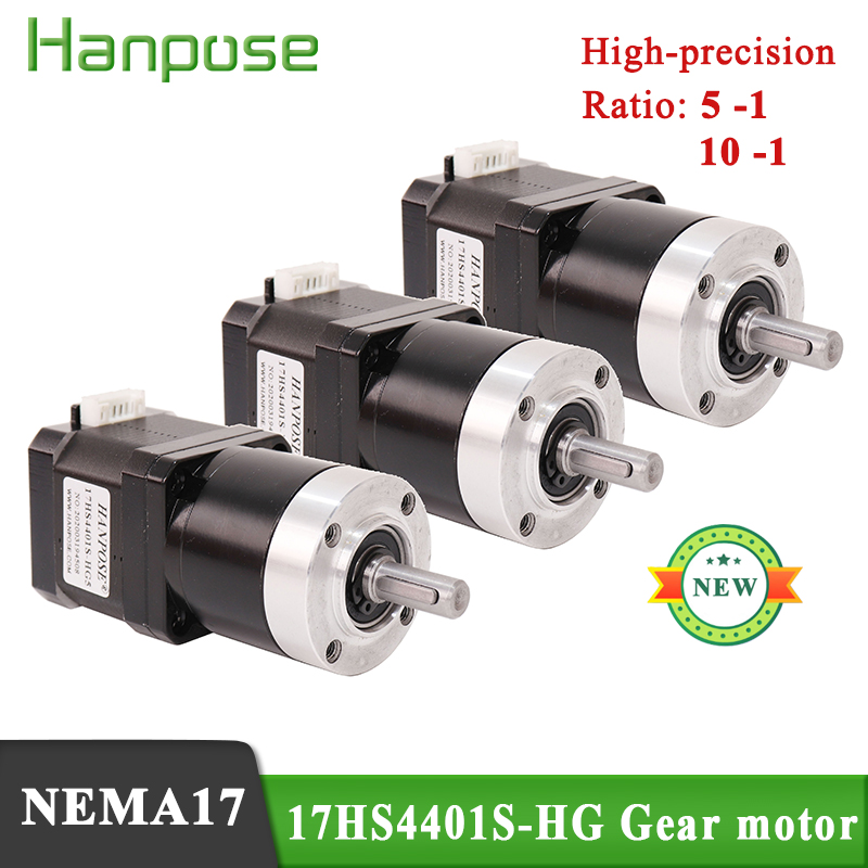 3pcs <font><b>NEMA17</b></font> 42 <font><b>gear</b></font> motor 1.7A 40N.cm motor gearbox 17HS4401S-HG 5:1 10:1 high precision reduction motor reduction step motor image