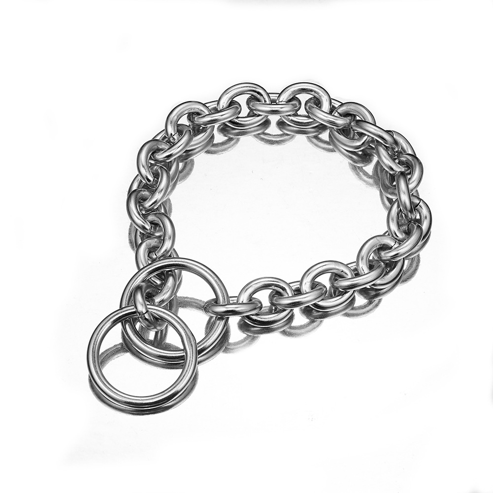 15mmo Word Pendant Pet Dog Chain P Pendant Circle Pendant Stainless Steel Neck Ring Hand Holding Rope One-piece Supply Of Goods