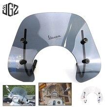 Tela de acrílico da motocicleta windshield windscreen defletor vento placa com suporte para vespa primavera 150 preto transparente