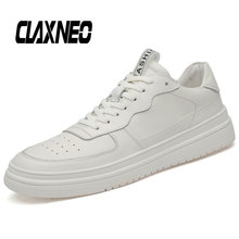 CLAXNEO Man Casual Shoes White Walking Shoe Male Leather Sneakers Fashion Genuine clax Mens Footwear