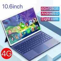 Tableta PC de 2021 pulgadas, 6G + 10,1 GB, 2 en 1 Android Phone, máquina de aprendizaje Netcom completa dedicada a juegos de estudiantes, novedad de 128