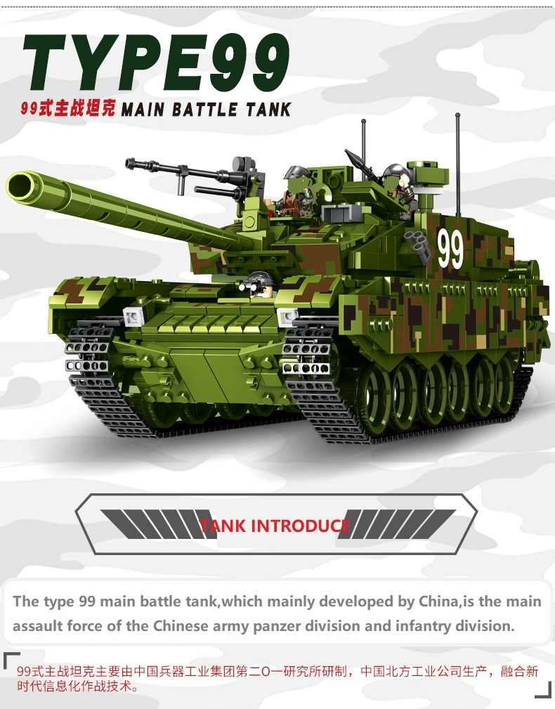 1339pcs Type 99 Sluban  Military Tank world war 2 Army  troops Building Blocks Bricks Toys compatible legoed for kids gift