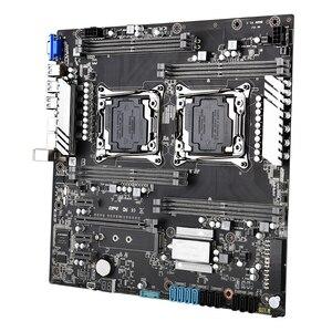 Image 4 - Материнская плата X99 LGA 2011 v3 v4 с двумя процессорами, E ATX USB3.0 SATA3 VGA с двумя процессорами Xeon, материнская плата со слотом M.2, двойной Giga LAN
