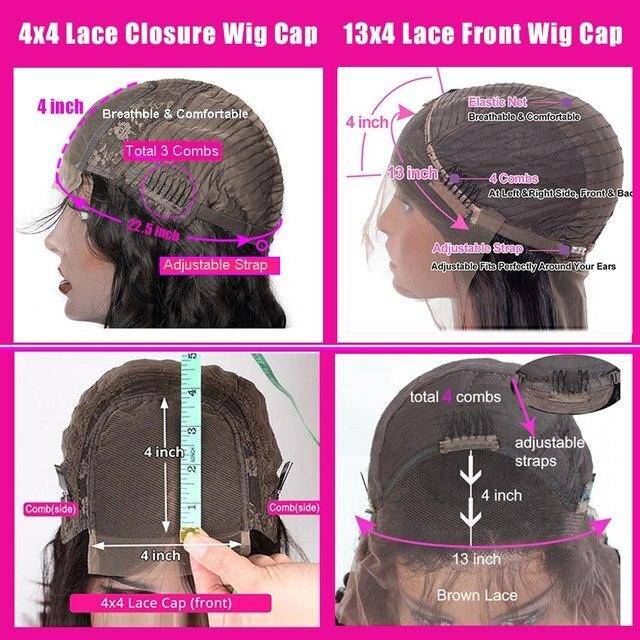 Brazylijska woda fala peruka 13*4 koronki przodu włosów ludzkich peruk wstępnie oskubane naturalną linią włosów 150% wysokiej radia peruki z włosów typu remy Modern Show
