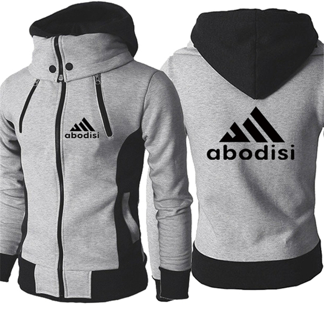 2020 Autumn Men Hooded Coat Men Fake Two-piece Hoodies DC Zipper Pullover Jacket Male Winter Cotton Thick Warm Man Clothing Tops 4
