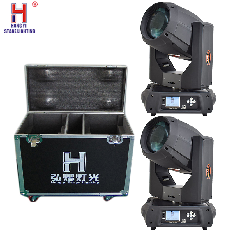 Professional stage sharpy 350 17r beam spot wash 350w moving head light dj equipment with fly case (2pcs/lot)|Stage Lighting Effect| |  - title=