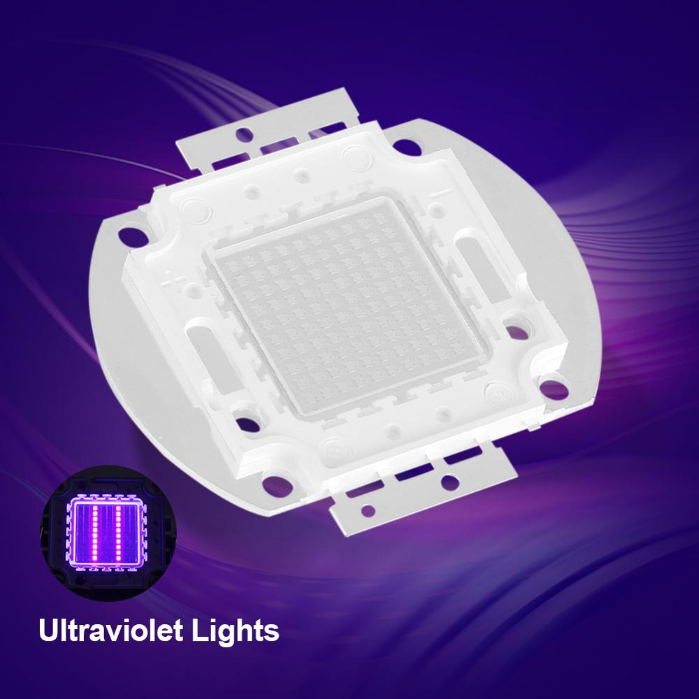 50W UV LED Ultraviolet Lamp Bulbs Chips Light 395-400Nm LED Ultraviolet Lights For Scanning Printer Ultraviolet Led Hot Sale