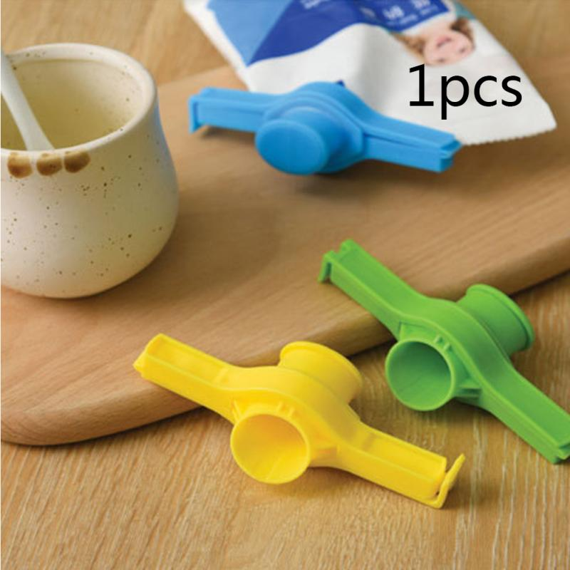 3pcs/set REUSEABLE Pour-out Opening Cap Type Sealing Clip Reusable Snack Bag Vacuum Multifunctional Food Storage Mini Practical