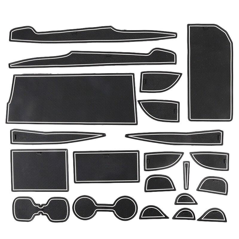 Automotive Plastic White Luminous Non Slip Door Mat Coaster for Toyota Camry 18 19 Models|Car Anti-dirty Pad| |  - title=