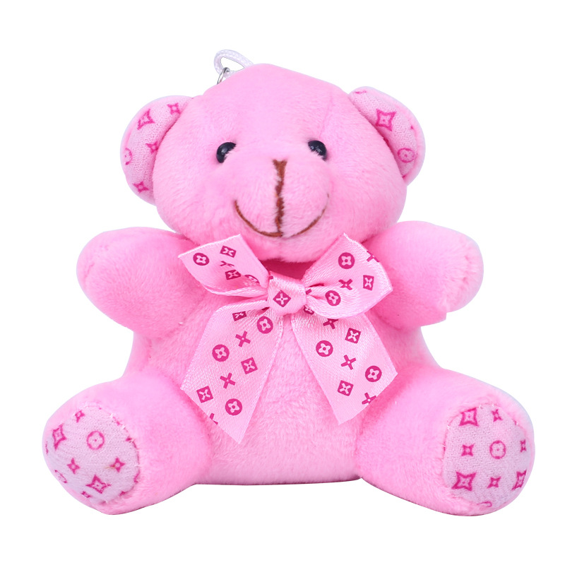 Купить модный милый плюшевый помпон для девочек брелок в виде медведя