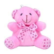 Модный милый плюшевый помпон для девочек брелок в виде медведя