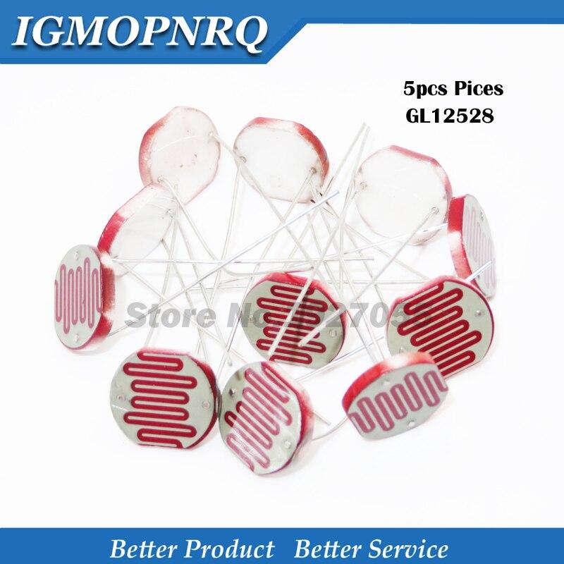 5PCS GL12528 12528 Light Sensitive Resistor 12mm Photoresistor Resistor LDR Dependent Resistance New