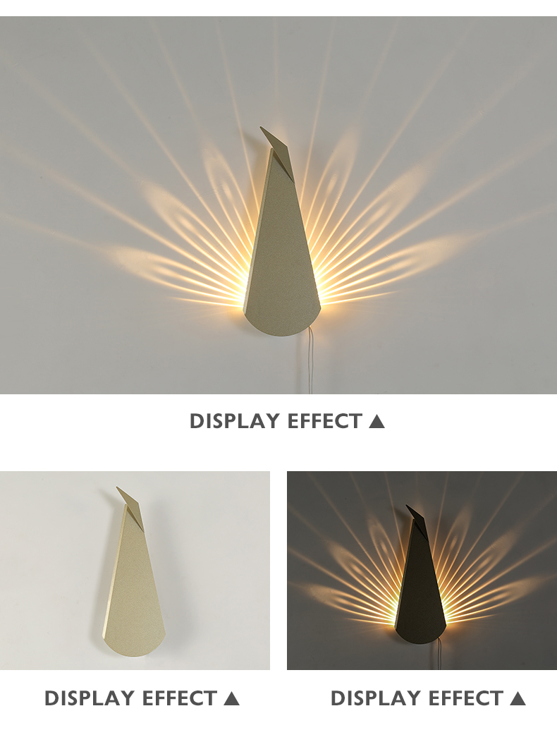 Hd5de1b3310ab48a091984415bcccb15cp - Modern Peacock Tail Wall Lamp Indoor Lighting Led Wall Light for Home Bedroom Study Hallway Corridor Wall Sconce Light Fixtures