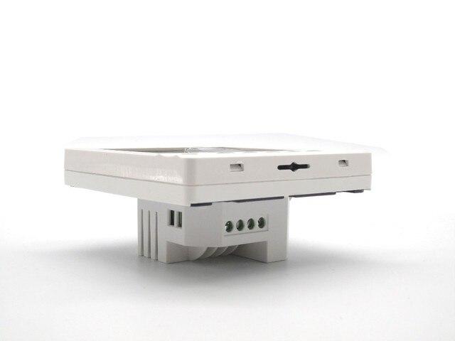 Termostato inteligente de cristal de carbono de control de temperatura de película de calefacción eléctrica termostato de calefacción de suelo de agua de Casa de google termostato