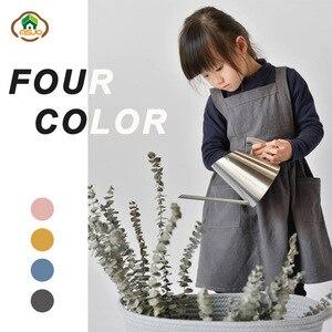 MSJO Детский фартук, хлопковый кухонный художественный Рисунок, школьные песочные часы, детское платье, Детский фартук для выпечки, нагрудник...