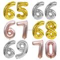 40 дюймов, шар 65 66 67 68 69 70, золотой серебряный юбилей, вечеринка, украшение 65, 66, 67, 68, 69-го, 70-го дня рождения