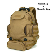 Outdoor 40L Large Capacity Multifunctional Army Tactical backpack nylon waterproof Sports Hiking camping shoulder and waist bags