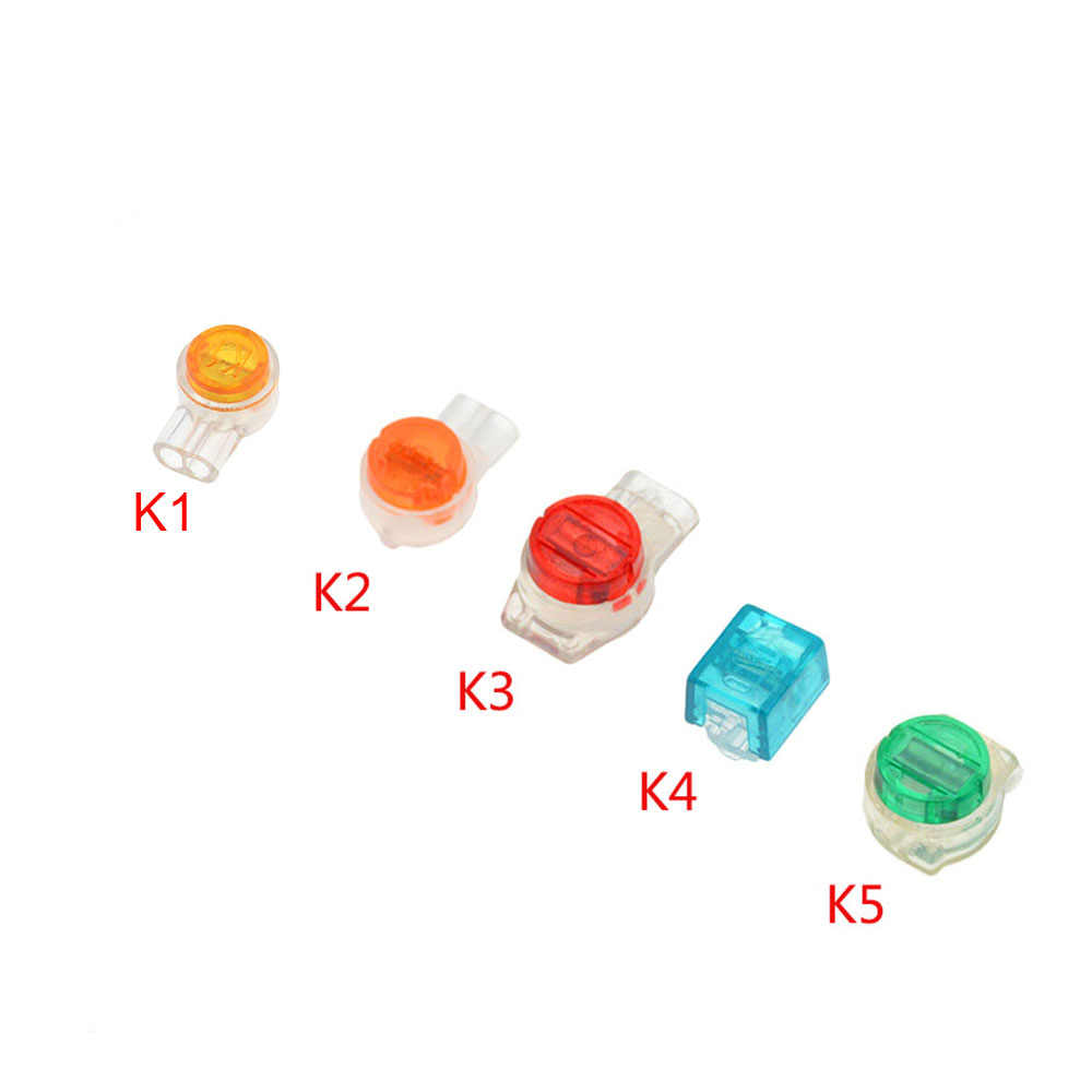 50PCS Connector Krimp Aansluitklemmen K1 K2 K3 K4 K5 Connector Waterdichte Bedrading Ethernetkabel Telefoonsnoer Terminals