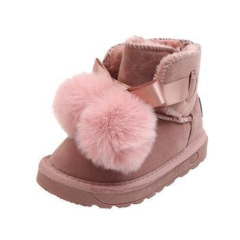 Botas de nieve de cuero para niños y niñas, zapatos cálidos de...