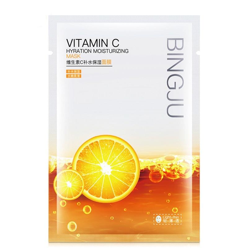 Vitamin C Hydrating Mask Moisturizing Brightening Tencel Mask