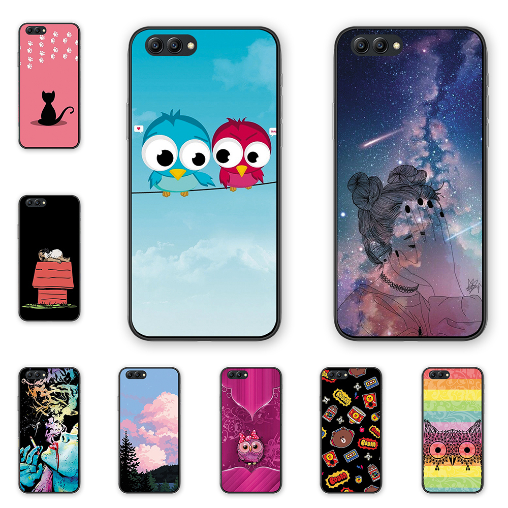 Lovely cartoon animals Case cover for HUAWEI Honor V10 silicone soft tpu Phone cover For HUAWEI honor V10 coque protective image