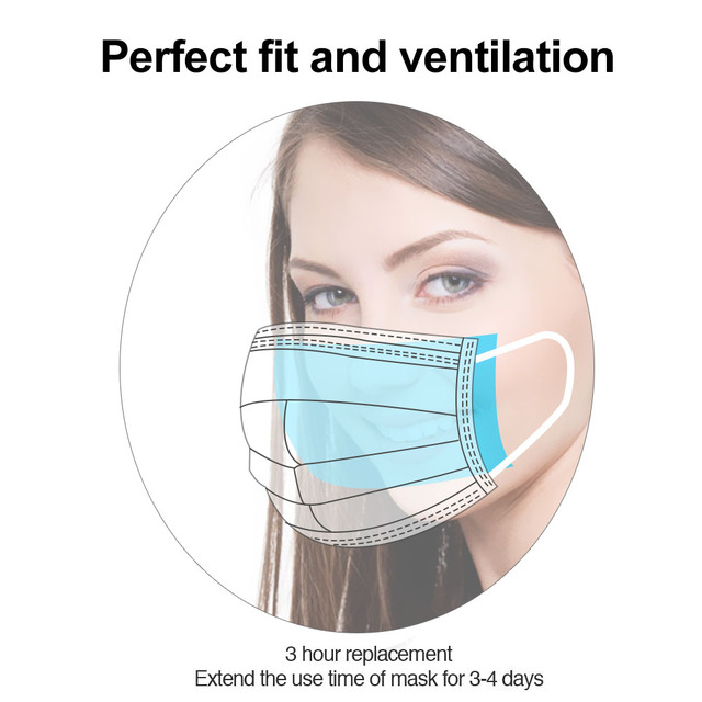 Disposable Facial Mask Filter Face Mask Filter Breathing Safety Replacement Cotton Pad Anti-Dust Anti Influenza 5