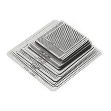 27 шт. BGA Трафареты Универсальный прямой обогрев Трафареты для SMT SMD чип Rpair дропшиппинг
