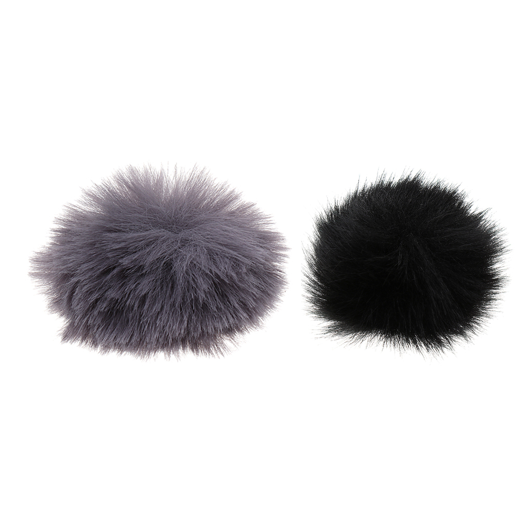 Finest Clip-on/Headset Microphone Wind Muff Fur Mini Mic Cover