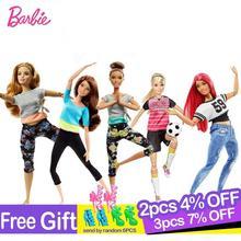 Barbie Original 22 관절 인형 요가 운동 인형 소녀 Reborn 교육 완구 어린이를위한 생일 Boneca 선물