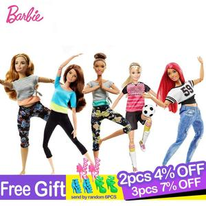 Image 1 - Barbie Original Made To Move 22 Joints Doll Yoga Movement Dolls Girls Reborn Educational Toys for Children Birthday Boneca Gift
