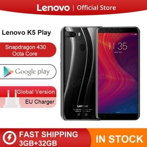 "Global Version Lenovo K5 Play 3GB 32GB Snapdragon 430 Octa Core Smartphone 1.4G 5.7"" 18:9 Fingerprint Android 8 13.0MP Camera(China)"