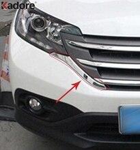 Хромированные передние Грили из АБС пластика для Honda CRV 2012 2013 2014, декоративная Обложка, отделка рамы, решетки, Декоративная полоса, молдинги, аксессуары