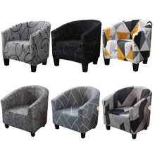 Mała narzuta na sofę skórki protector pojedyncze siedzenie 1-osobowa pokrowiec na krzesło na ramię pokrowce na krzesła do jadalni kwiatowy nadruk tanie tanio S-EMIGA CN (pochodzenie) single seat PRINTED Nowoczesne krzesło plażowe Na fotel Hotel krzesło Krzesło na ślub Krzesło bankietowe