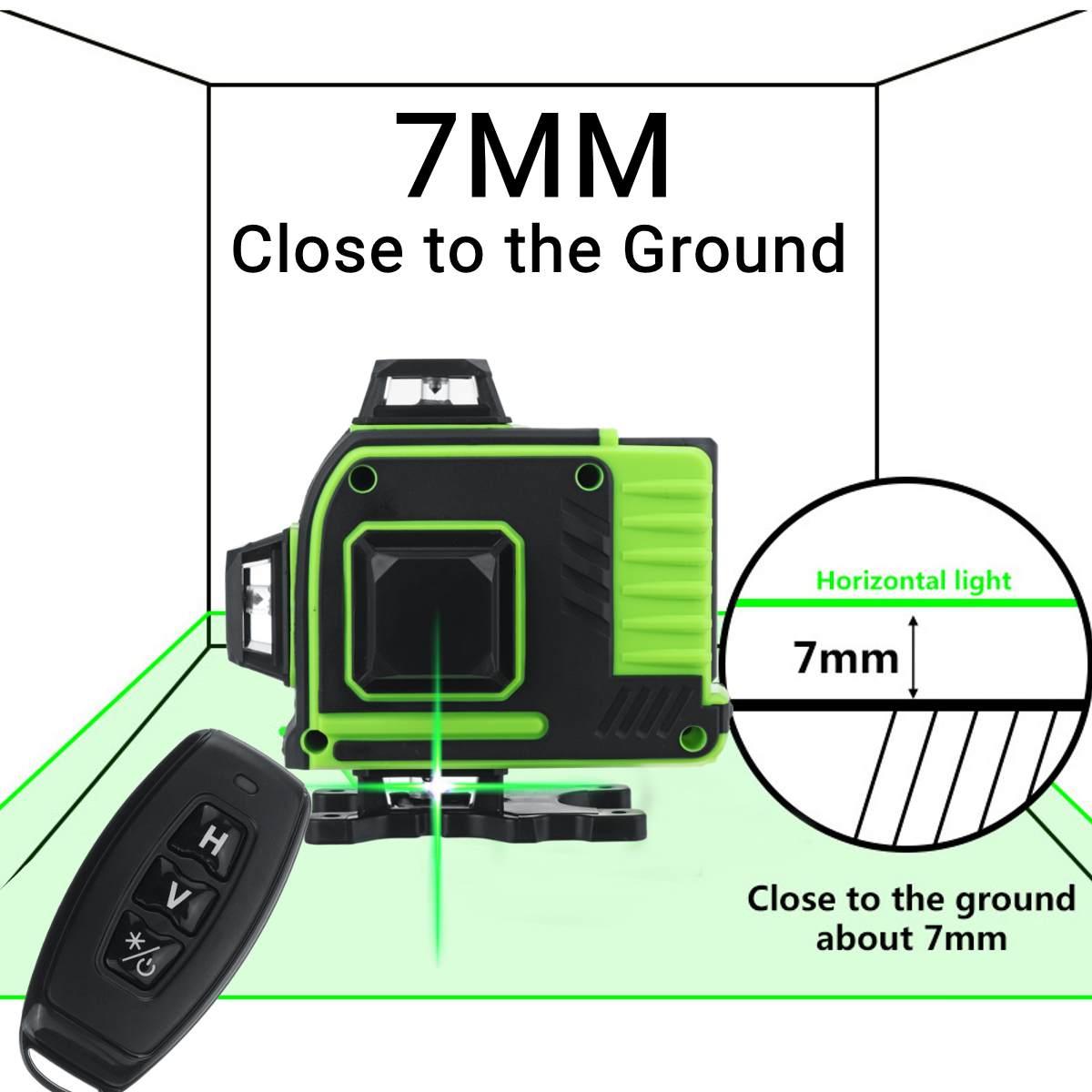 16 linie 360 Horizontale Vertikale Kreuz 3D Grünes Licht Laser Ebene Selbst Nivellierung Messen Super Leistungsstarke Laser Strahl