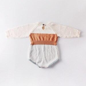 Image 5 - 2009 Nieuwe Baby Meisje Bodysuits Retro Colour Gebreide Kleding Bottom Gewikkeld Horsewear En Kruipen Kleding