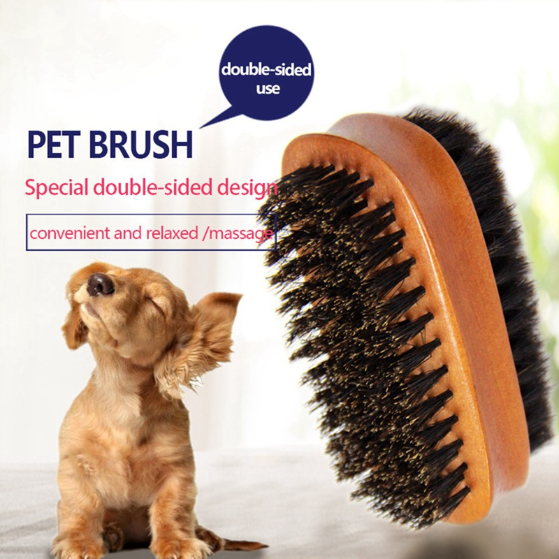 Professional Double Sided Dog Combs Pet Bristle Comb Grooming Brush Cleans Pets Shedding Dirt H1