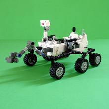 Brinquedos diy moc ciência laboratório curiosidade rover blocos de construção estação espacial foguete bloco lunar modelo para crianças