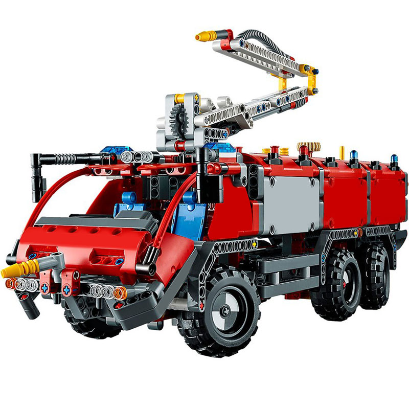 Compatible Lepining Technic city 3371 1106pcs Airport rescue vehicle Fire car firefighter Building Blocks Bricks <font><b>42068</b></font> image