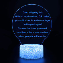 3D illusion Lamp Home&Room Night Lights Touching LED Lampen For Drop Shipping(China)